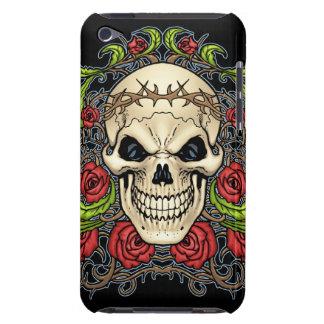 Cráneo y rosas con la corona de espinas por el Al Barely There iPod Carcasa