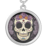 Cráneo y rosas del vintage collares