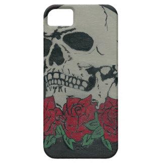 cráneo y rosas iPhone 5 carcasa