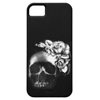 Cráneo y rosas iPhone 5 Case-Mate cárcasa