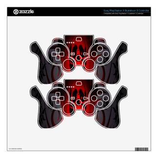 Cráneo y rosas mando PS3 skins