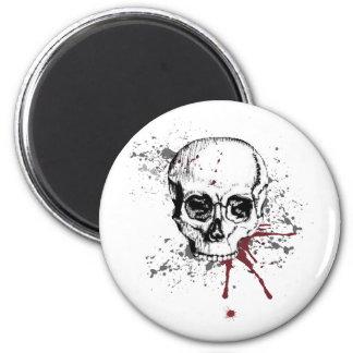 Cráneo y sangre imanes para frigoríficos