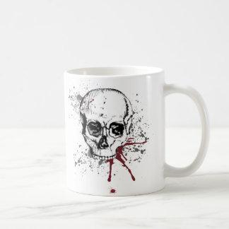 Cráneo y sangre tazas de café