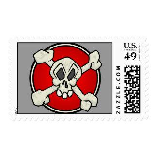 Cráneo y sello de la bandera pirata