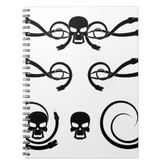 Cráneo y serpiente 3 note book