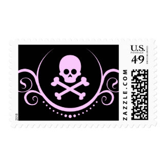 cráneo y sofisticaciones de la bandera pirata sellos