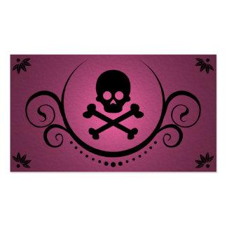 cráneo y sofisticaciones de la bandera pirata tarjeta de negocio
