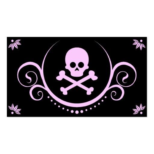 cráneo y sofisticaciones de la bandera pirata tarjetas de visita