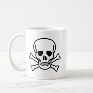 Cráneo y taza de la bandera pirata