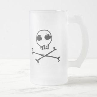 Cráneo y taza helada de la bandera pirata