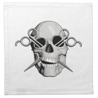 Cráneo y tijeras v3 servilletas imprimidas