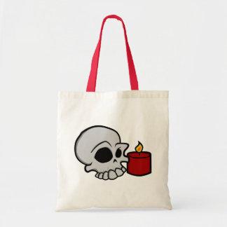 Cráneo y vela bolsa tela barata