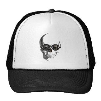 Cráneo y vidrios gorras