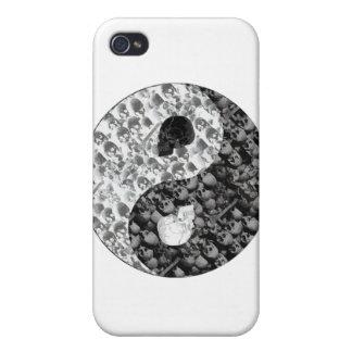 Cráneo Yin Yang iPhone 4/4S Carcasa