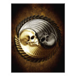 Cráneo Yin Yang Membretes Personalizados