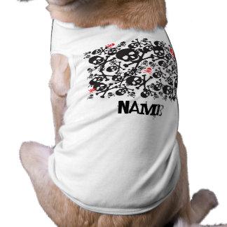¡Cráneos a personalizar! Camiseta del perro Playera Sin Mangas Para Perro