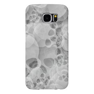 CRÁNEOS abstractos blancos Fundas Samsung Galaxy S6