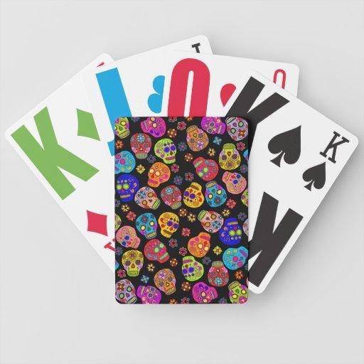 Cráneos adaptables del azúcar barajas de cartas