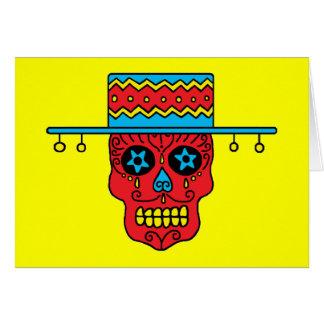 Cráneos adaptables del azúcar del gaucho tarjeta de felicitación