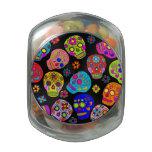 Cráneos adaptables del azúcar frascos de cristal