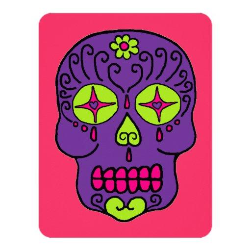 """Cráneos adaptables del azúcar invitación 4.25"""" x 5.5"""""""