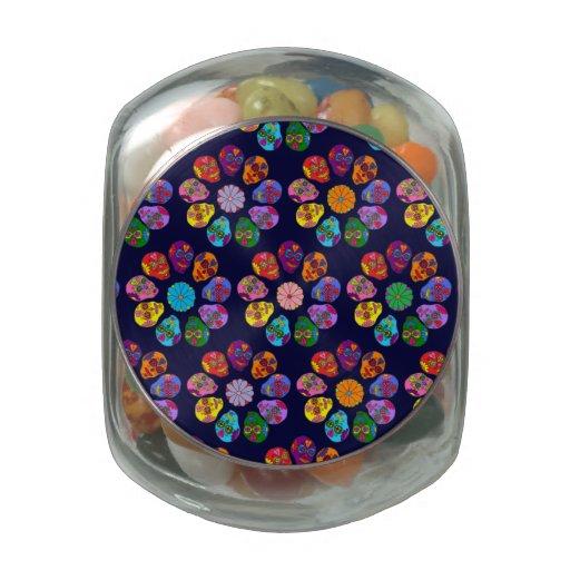 Cráneos adaptables del azúcar frascos de cristal jelly belly