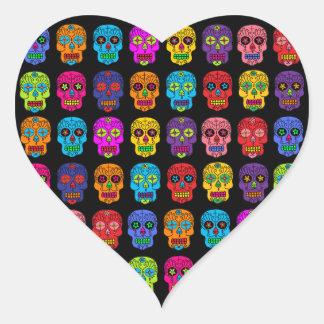 Cráneos adaptables del azúcar pegatinas corazon personalizadas