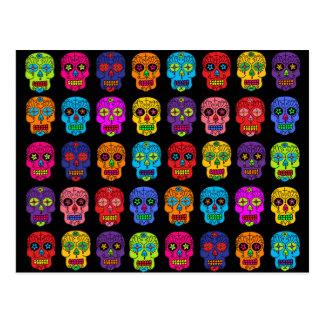 Cráneos adaptables del azúcar tarjeta postal