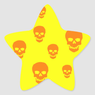 Cráneos adaptables del estallido calcomania forma de estrella personalizada