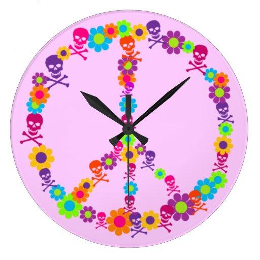 Cráneos adaptables del flower power reloj