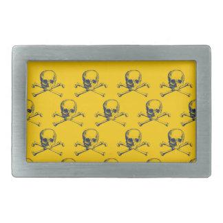 Cráneos adaptables y bandera pirata del vintage hebillas de cinturón rectangulares