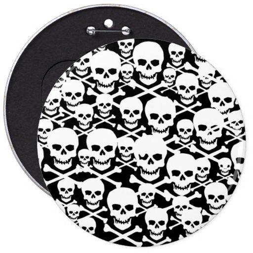 Cráneos adaptables y bandera pirata pin