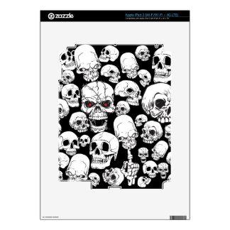 Cráneos agrupados blancos iPad 3 pegatina skin