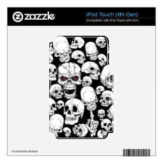 Cráneos agrupados blancos iPod touch 4G skins