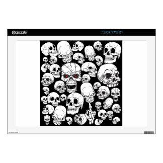 Cráneos agrupados blancos portátil 43,2cm skins