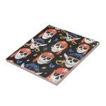 Cráneos alegres del pirata de Rogelio Azulejos Ceramicos