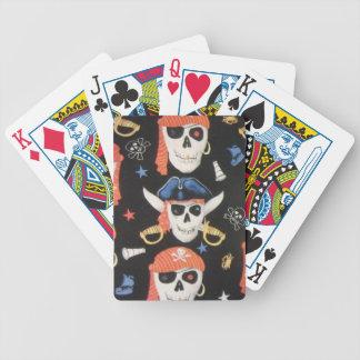 Cráneos alegres del pirata de Rogelio Cartas De Juego