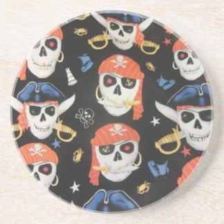 Cráneos alegres del pirata de Rogelio Posavasos Manualidades