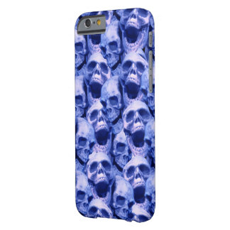 Cráneos azul marino funda barely there iPhone 6