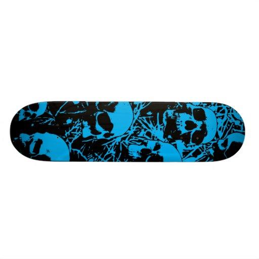 Cráneos azules del Grunge Patin Personalizado