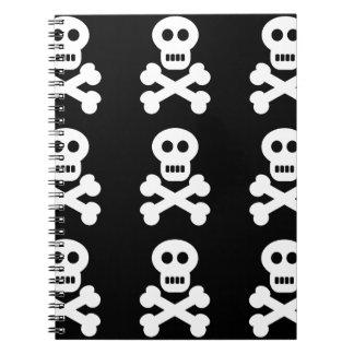 Cráneos blancos note book