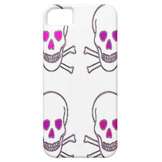 cráneos blancos y rosados funda para iPhone SE/5/5s