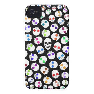 Cráneos - caja negra del iPhone 4 iPhone 4 Funda