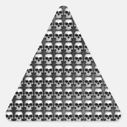 Cráneos Colcomanias De Triangulo