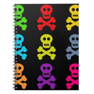 Cráneos coloridos libros de apuntes