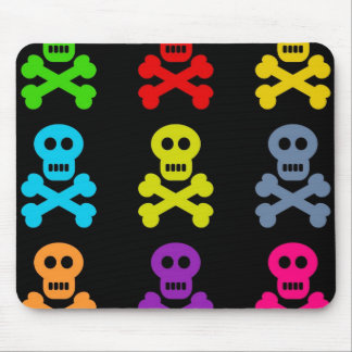 Cráneos coloridos tapete de ratones