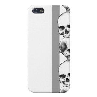 Cráneos con la caja gris del iPhone de la raya iPhone 5 Carcasas