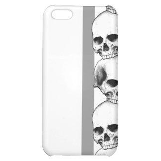 Cráneos con la caja gris del iPhone de la raya