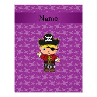 Cráneos conocidos personalizados de la púrpura del membrete a diseño