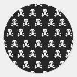 Cráneos de Emo - punk alternativo de la roca del Pegatina Redonda